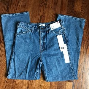 Uniqlo Flare Ankle Jeans 65 Blue